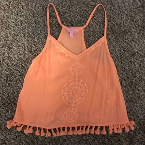 Coral Lilly Pulitzer top